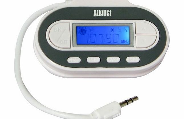 August WT601N FM Transmitter - Wireless Audio Sender for Car Stereo - Connects iPods / Mobile Phones / MP3 Players to your Car Stereo