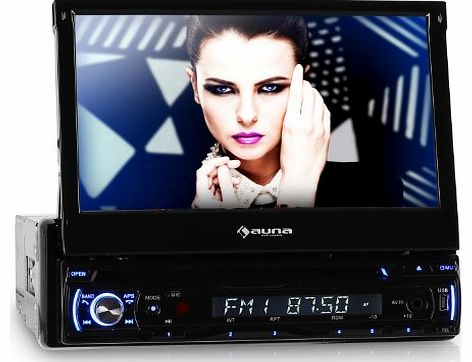 auna  DTA90BT Bluetooth Car Radio 18 cm / 7 Inch Display CD / DVD Player Black