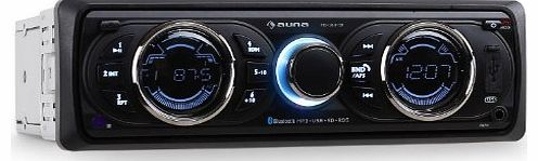 auna  MD-160-BT Bluetooth Car Stereo (MOSFET Amp, FM Radio with RDS, MP3 Playback via USB/SD/AUX