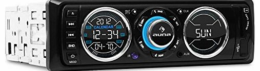 auna  MD-180 Car Stereo (FM Radio with RDS, USB / SD Connectivity