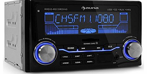 auna  MD-200 Car Radio (USB SD Connectivity, MP3 Radio Recording