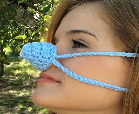 Aunt Martys Nose Warmers Light Blue Nose Warmer by Aunt Martys Nose Warmers