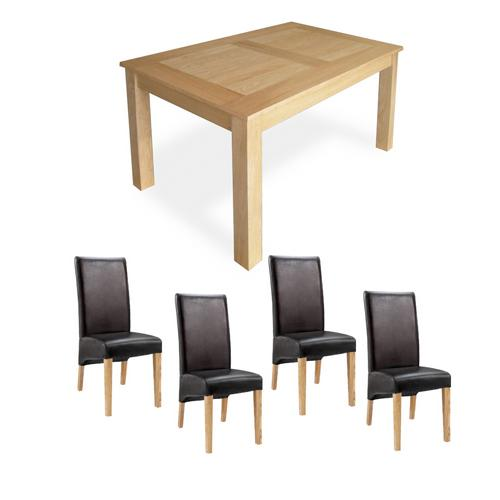 Oak Dining Set (5`Table x4 Cornel Chairs)
