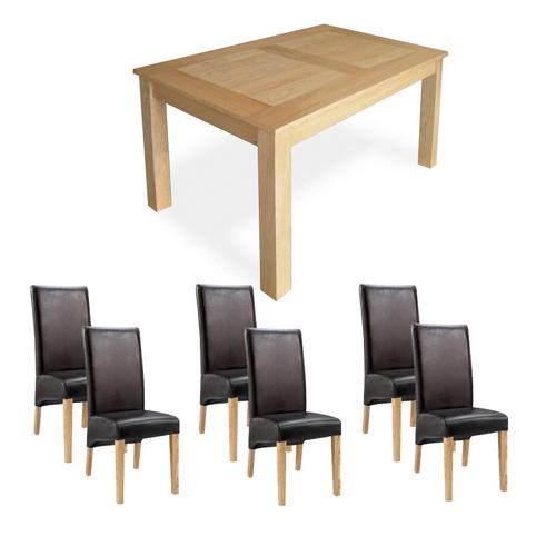 Oak Dining Set (6`Table x6 Cornel Chairs)