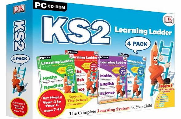 Avanquest Software Learning Ladder KS2 Four Pack - Includes Years 3, 4, 5