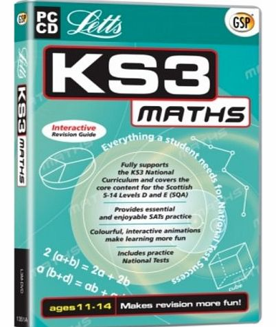 Avanquest Software Letts KS3 Maths Interactive Revision Guide (Ages 11-14) (PC)