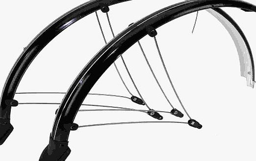 26` Mountain Bike Bicycle Full Mudguards Black