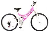 Reflex Avanti Girls Pink Dual Suspension Mountain Bike