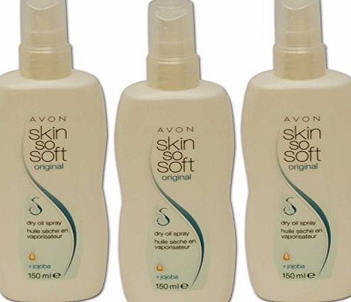 avon 3 x Avon Skin So Soft Original Dry Oil Body Spray-The Alternative to Insect Flies Mosquito Flea Repellent - Even Great For Horses Cats Dogs