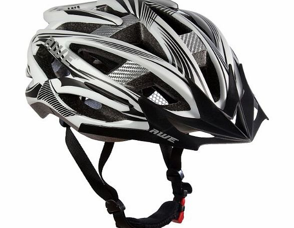AWE AeroStealthTM Carbon Fibre Insert Double In-Mould 24 Vents Adult Bicycle Bike Cycle Helmet CE EN1078
