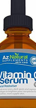 Az Natural Supplements Az Natural Vitamin C Serum, Fights Acne, Scars, Wrinkles and Fine Lines - Brings Out Your Youthful, Radiant and Healthy Skin