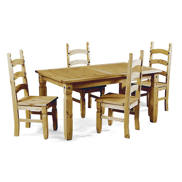 1.5m Dining Set w/4 Chairs