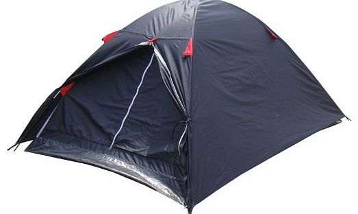 2 Man Black / Red Double Skin Summer Festival Camping Outdoor Dome Tent