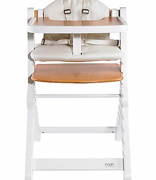 BabaBing Noah Highchair, Natural/White
