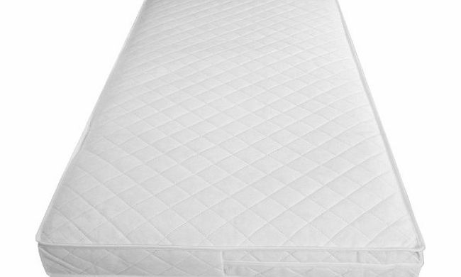 Babies Firsts 120x60cm Luxury Spring Interior Cot Mattress with an Edge Bound Cover and Extra Comfort Layer