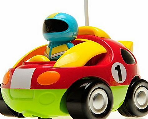 Babrit RC Cartoon Race Car with Action Figure Radio Control Toy with Music Best Christmas Gift for Toddlers Kids