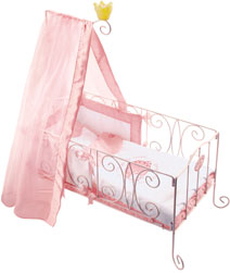 Metal Canopy Dolls Bed