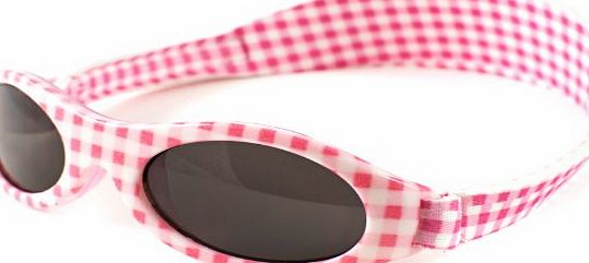 Baby Banz Girls 01/APG Oval Sunglasses, Pink Gingham