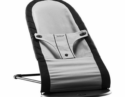 Baby Bjorn BabyBjorn Fabric Seat Cover for Babysitter Balance Bouncer (Black/ Silver, Cotton Mix)