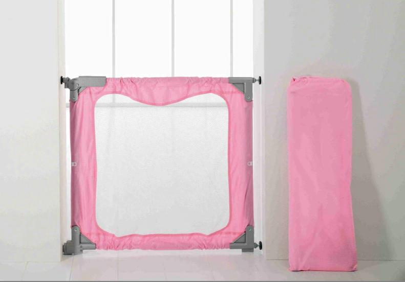 BabyDan Portable Stair Gate Pink