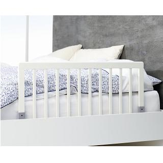 Babydan White Wooden Bed Guard