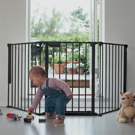 Black Configure Stair Gate Safety Gate