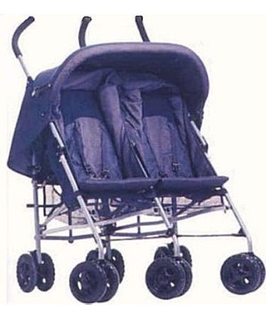 Twin STROLLER with RAINCOVER.