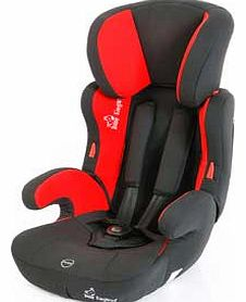 Group 1-2-3 Car Seat - Red and Black