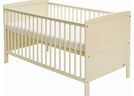 Travis Cot Bed with Mattress - Cream
