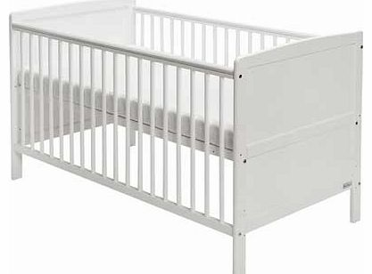 Travis Cot Bed with Mattress - White