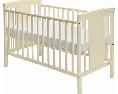 Baby Elegance Zara Cot with Mattress - Cream
