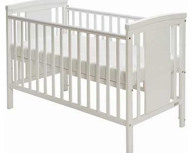 Baby Elegance Zara Cot with Mattress - White