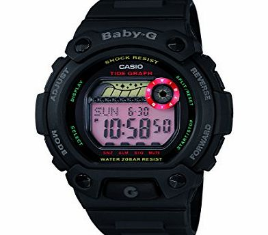 by Casio Ladies Black Tidegraphy Sports