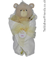 Bear Tales Yellow Blanket Bear