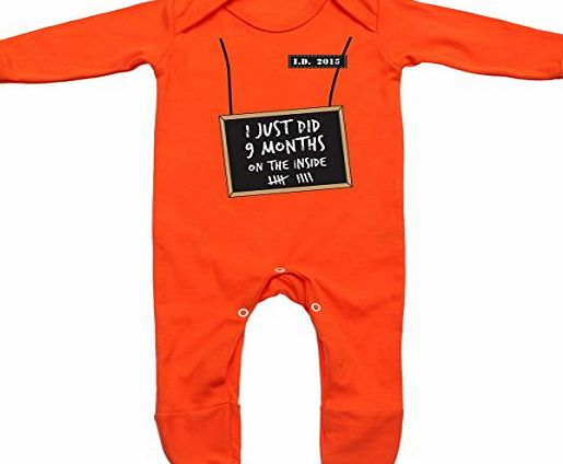 Baby Hustle ive just done 9 months inside Baby Romper Suit (Orange, 0-3m)