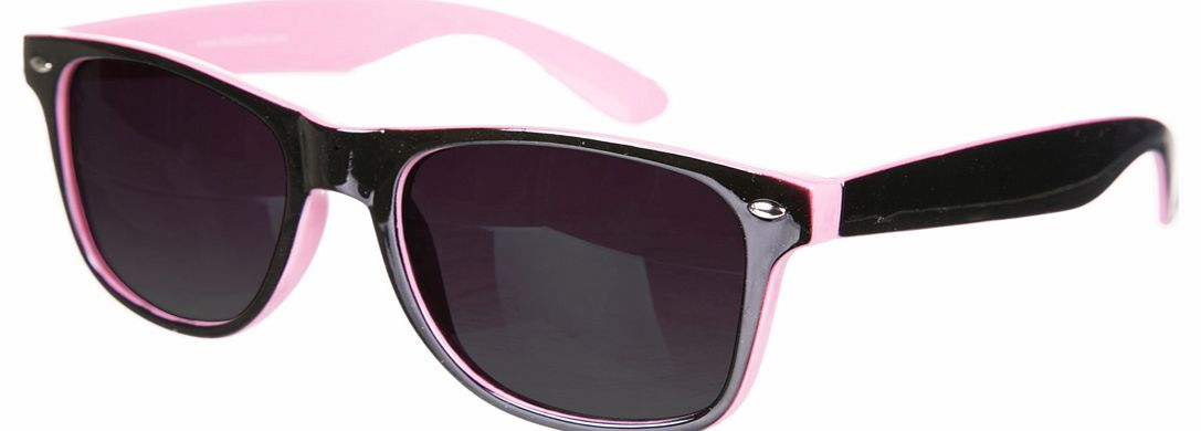 Pink And Black Wayfarer Sunglasses