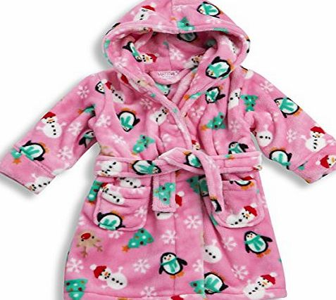 BABY TOWN BABYTOWN Baby Boys Girls Novelty Fleece Dressing Gown Robe Christmas Xmas Gift