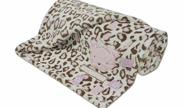 BABY TOWN BABYTOWN Baby Girl Blanket Fleece Wrap Soft Plush Animal Leopard Zebra Print