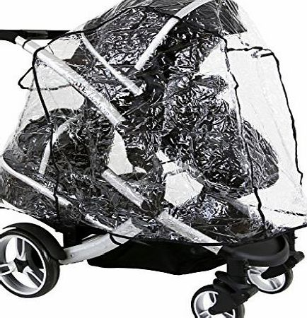 Baby Travel iSafe Tandem Raincover to Fit - BabyStyle Oyster Max 2 Tandem