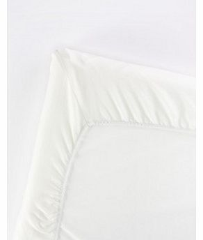 Fitted sheet for travel bed White `One size