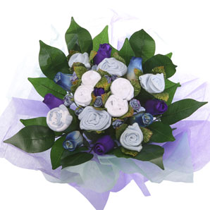 BabyBlooms Bouquet- Large- Blue
