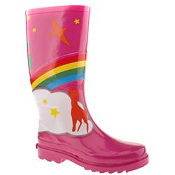 Female Rainbow Wellie Manmade Upper in Pink