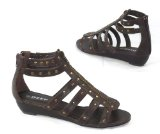 Garage Shoes - Giraffe - Womens Flat Sandal - Brown Size 4 UK