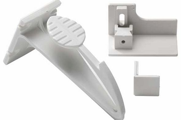 Adhesive Drawer and Cupboard Lock - 2 Pack