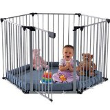 Babyden Playpen in Silver with Grey Playmat
