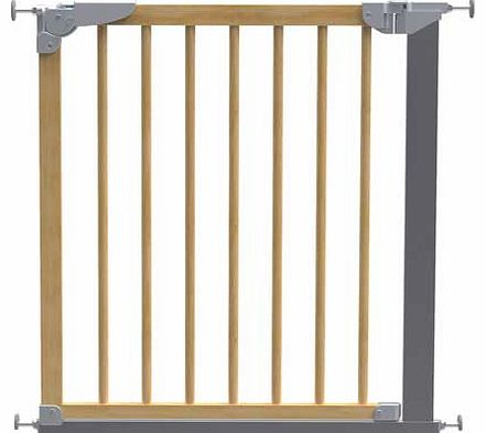 Designer Pressure Fit Safety Gate - Beech