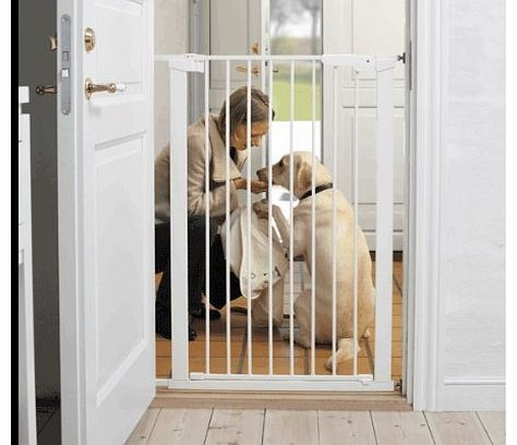 Extra Tall Pressure Indicator Safety Gate (White)