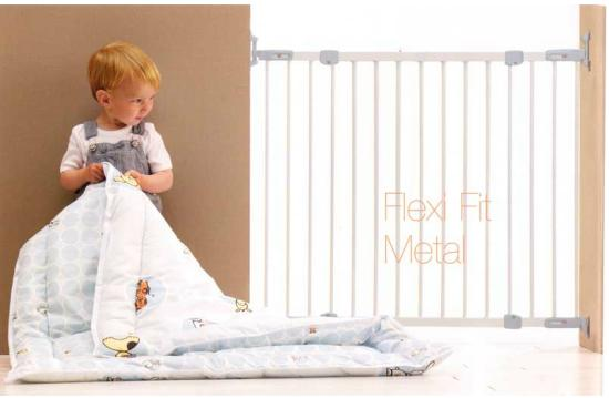 Flexi Fit Wall Mounted Metal Baby Safety