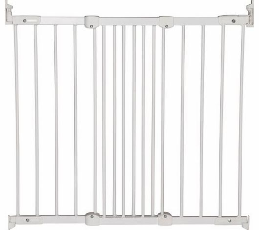 Super Flexi Fit Extending Metal Safety Gate (White/Silver)