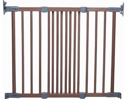 Super Flexi Fit Extending Wooden Safety Gate (Beech/Silver)